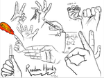 Random Hands by DespicableLeftie