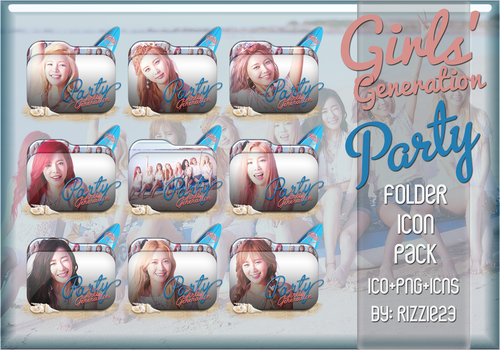 Girls' Generation Party Folder Icon Pack by Rizzie23