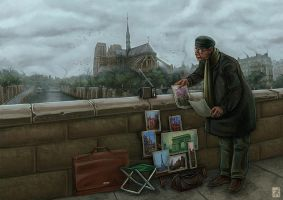 Aquarelles de Paris by RealNoir13