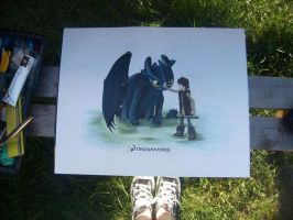 Toothless And Hiccup -Finished by PossumPip-Creations