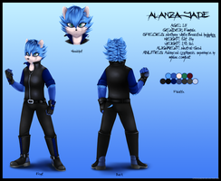 Alanza the Hedgehog Reference 2013 - Onward by Nero-Blackwing
