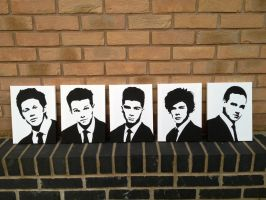 One Direction (1D) Spray Painted Stencils Canvas by RAMART79