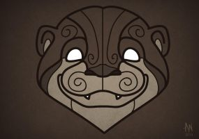 Otter mask by Adele-Waldrom