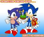 Happy 18th Birthday, Sonic by Trowelhands