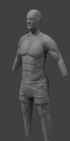 Sculpted male body by the-epic-k