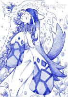 Milotic Gijinka (pen version) by RachyChan