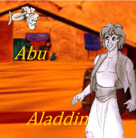 Aladdin and Abu in the Marketplace by Creepyland