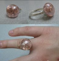 Sparkling Champagne Glass Ring by Hands-and-Teeth