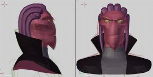 Thrax in 3D - WIP by merrypaws