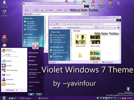Violet Windows 7 Theme 1.0 by yavinfour