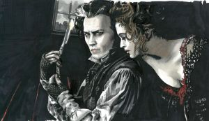 Sweeney Todd and Mrs. Lovett by AylaMorell