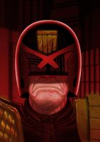 Judge Dredd Grimace by Mleeg-Art