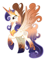 Queen Galaxia, mother of celestia and luna by lizzytheviking