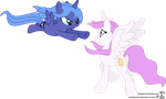 Princess Luna Surprises Princess Celestia by 90Sigma