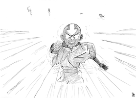 Aang - Avatar State by BirdGRico
