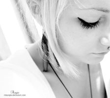 girl hair air black white macr by RioTAngiE