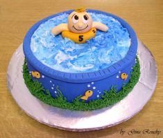 Swimming Cake by ginas-cakes