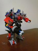 Transformers: Optimus Prime Gatling Gun Concept by Saberrex