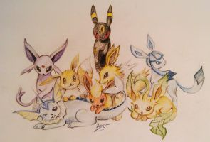 Eevee Evolutions by AgneAl