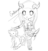 Chibi Draenei Sketch by EmKawaii