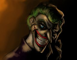 Joker cartoon by StitchParadox