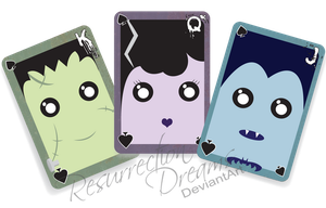 Little Monster Playing Cards by ResurrectionDreams