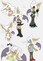 Rouge the Bat - Through the years~ by Larka-Lover