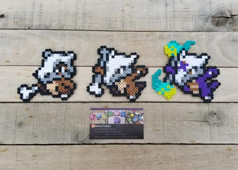 Cubone Family - Pokemon Perler Bead Sprites by MaddogsCreations