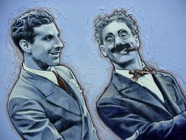 Marx Brothers - close up 1 by PENICKart