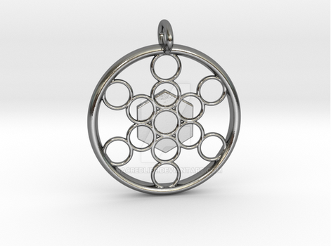 METATRON'S CUBE-Polished Silver by SacredLife