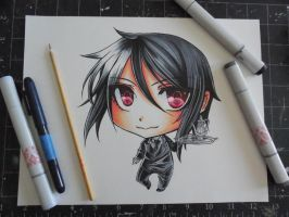 Copic Chibi Sebastian by Mireielle