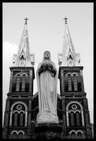 Ho Chi Minh Notre Dame by amigaboi