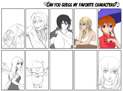 Guess my fav characters WIP by Annie-sama