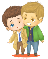 Chibi Destiel by PityMau