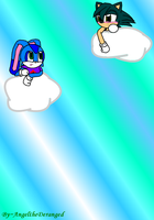 AngelXCarlos Floatin on clouds by AngeltheDeranged
