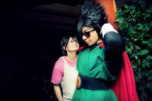 My Hero Videl and Gohan/Great Saiyaman by Oniakako
