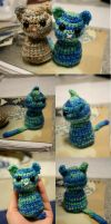 Crochet: Blue Cat by FeatheredDragon