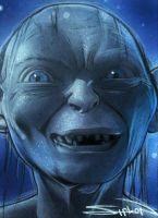 Gollum Sketch Card by RandySiplon