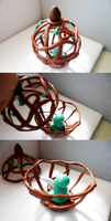 Fairy Cage Polymer Clay Figurine by Saru-Hime