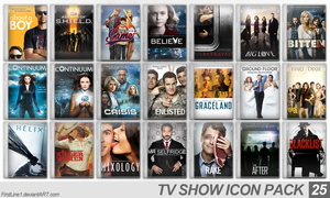 TV Show Icon Pack 25 by FirstLine1
