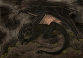Black Dragon by PanHesekielShiroi