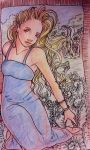 Pen Sketch Colored: Thinking by GreenAngel5