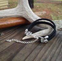 Braided Horsehair Bracelet - Black Triple Braid by TarpanBeadworks