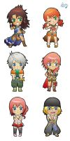Chibi Final Fantasy XIII by GeckUP