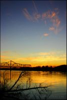 Ohio River Sunset by mrsselfdestruct