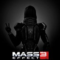 Poster Mass Effect 3 FemShepard by SallibyG-Ray