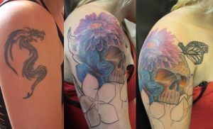 Skull Cover-up - WIP by SimplyTattoo