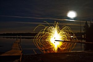 Spinning On a Lake by ackbad