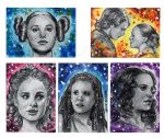 Watercolour Sketch Cards Star Wars by AngelinaBenedetti