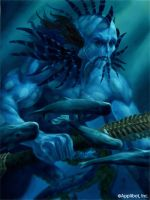 Emperor Of The Merfolk by gallegosart-com